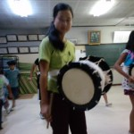 鹿踊りの練習